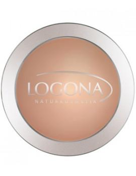 Poudre compacte n°03 Sunny Beige 10g Logona - produit de maquillage bio abcbeauté