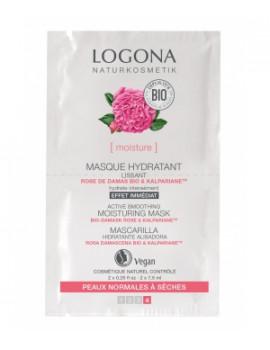 Masque hydratant lissant Rose de Damas Kalpariane 2 x 7,5 ml Logona