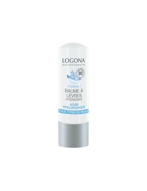 Baume à lèvres hydratant acide hyaluronique 4,5 gr Logona - stick lèvres bio