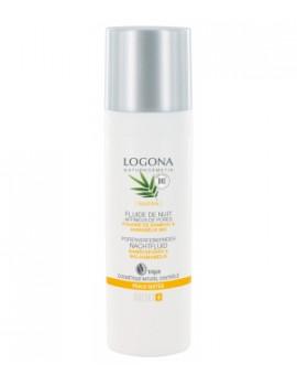 Fluide de nuit affineur de pores Bambou Hamamélis bio 30 ml Logona - crème fluide bio abcbeauté