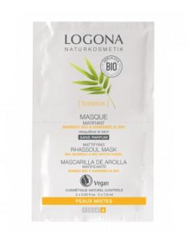 Masque matifiant Bambou Hamamélis bio 2 x 7,5 ml Logona
