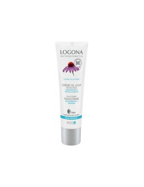Crème de jour protectrice Echinacée bio Centella asiatica 30 ml Logona - crème de jour bio peaux sensibles