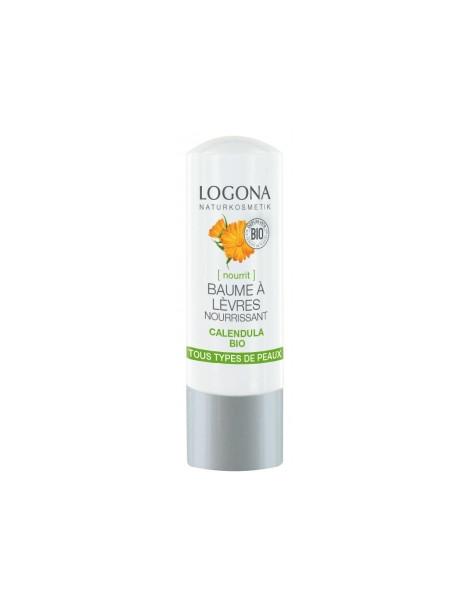 Baume à lèvres nourrissant Calendula bio 4,5 gr Logona - cosmétique bio abcbeauté