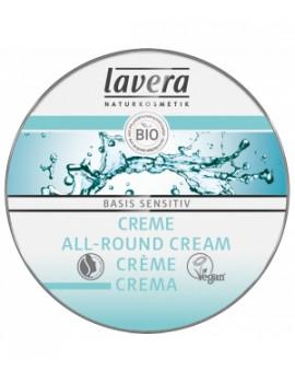 Crème multi usages visage corps Beurre de karité Amande douce BASIS  25ml Lavera - produit de soin pour le visage