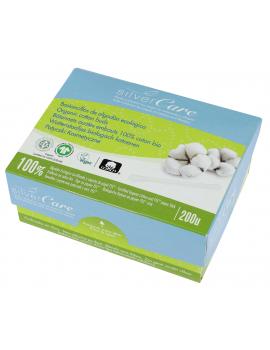 200 bâtonnets ouatés embouts 100% coton bio 200 unités Silvercare - produit de nettoyage pour les oreilles