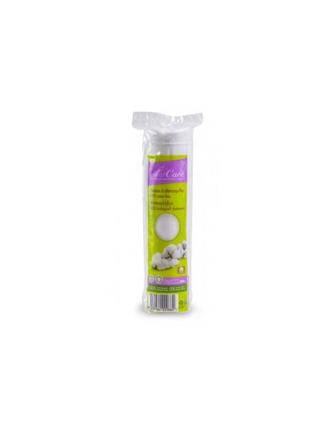 Disques à démaquiller 100% coton bio  80 unités Silvercare - produit de nettoyage pour le visage abcbeauté