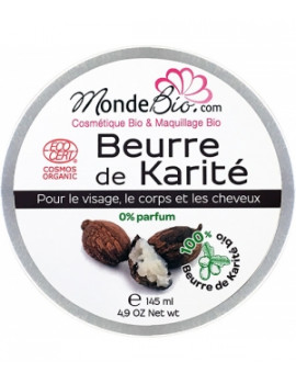 Le Monde du Bio Beurre de Karité bio 145 ml