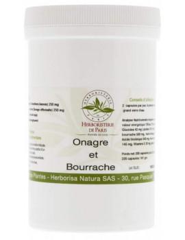 Huile de Bourrache Huile d'Onagre 200 + 20 capsules gratuites Herboristerie de Paris