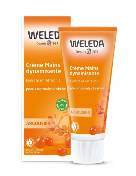 Crème mains - Argousier Tube 50ml Weleda,  Entretenir,  Mains,  abcBeauté.