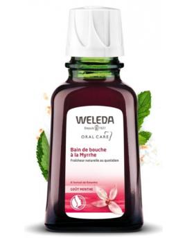 Bain de bouche à la Myrrhe 50ml WELEDA, bain de bouche bio, myrrhe, ratanhia, abcbeauté
