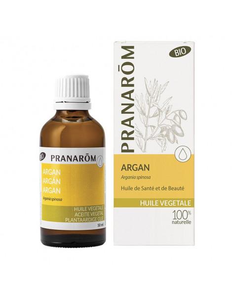 Huile d'Argan bio Pranarom - 50 ml, huile végétale anti-rides et anti-âge, abcbeauté