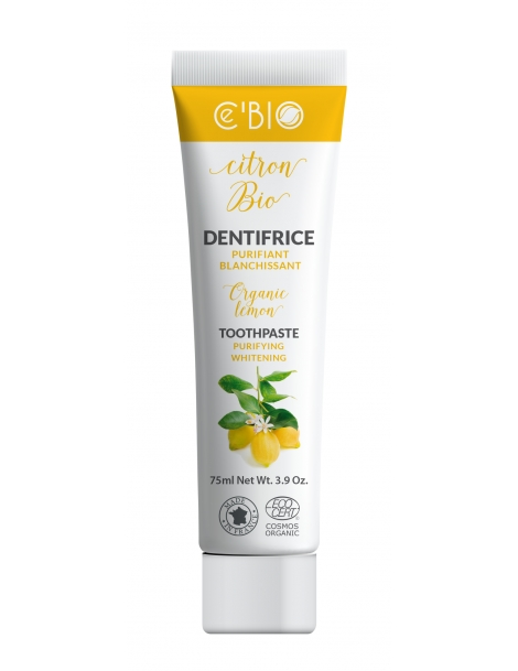 Dentifrice Citron purifiant blanchissant 75 ml C'bio, dentifrice bio purifiant, abcbeauté