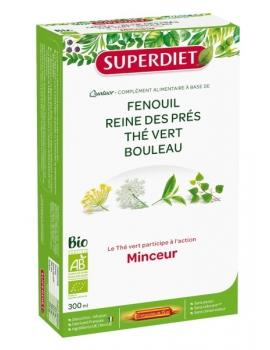 Quatuor thé vert Minceur bio - 20 ampoules de 15ml Super Diet