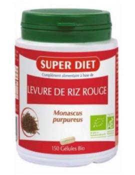Levure de Riz rouge bio - 150 gélules de 285mg Super Diet