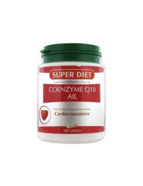 Coenzyme Q10 Ail 180 capsules Super Diet, cardio-vasculaire, abcbeauté