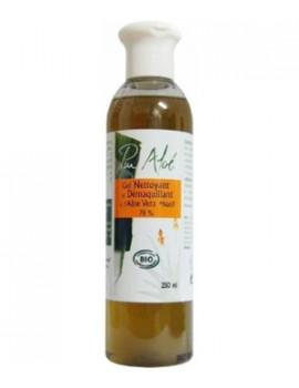 Gel Nettoyant et Démaquillant Bio Aloe Vera 250 ml Pur'aloe, gel démaquillant bio, abcbeaute