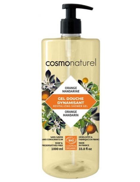 Bain douche Fruité Mandarine Orange 1 Litre Cosmo Naturel - produit d'hygiène bio pour le corps