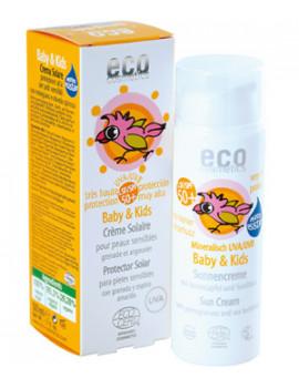 Crème solaire babysun SPF50  Grenade Argousier 50 ml Eco Cosmetics, crème solaire bio abcbeauté