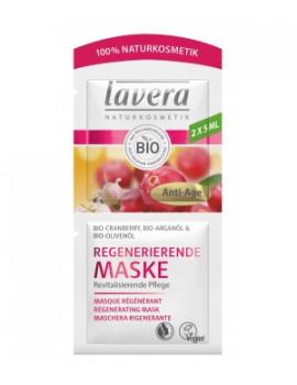 Masque anti rides Cranberry bio Huile d'Argan bio 2x5 ml Lavera, soin bio du visage abcbeauté