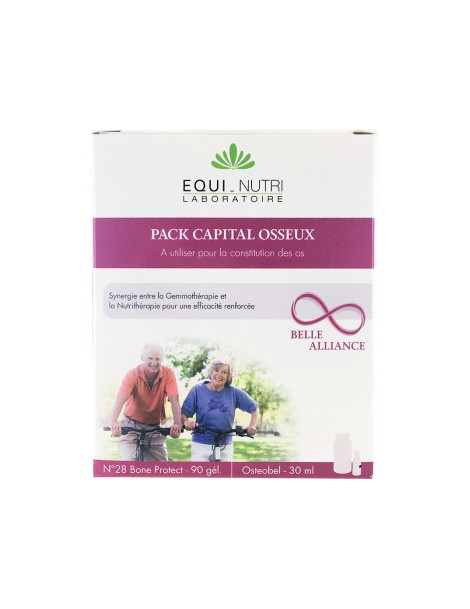 Duo Protection Osseuse - Equi-Nutri - 60 gélules et Flacon 30 ml