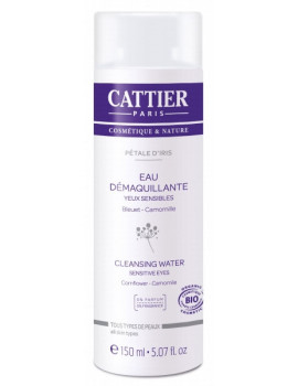 Eau démaquillante Petale d'Iris Flacon 150ml Cattier