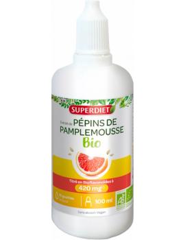 Extrait de Pepins de Pamplemousse bio 1120 mg pour 100 ml Super Diet