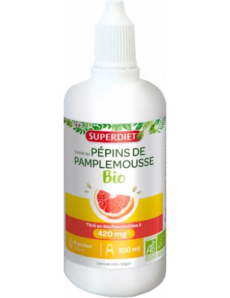Extrait de Pépins de Pamplemousse bio - 1120 mg pour 100 ml super diet bio sante senior