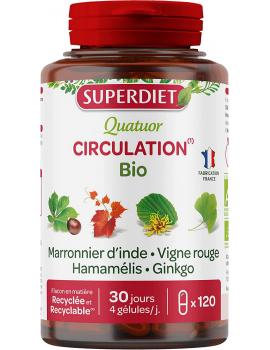 Super Diet Quatuor Criculation bio 120 gélules circulation jambes légères abcbeaute