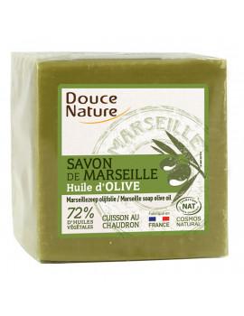 Savon de Marseille Vert 300 gr Douce Nature - produit de soin pour le corps