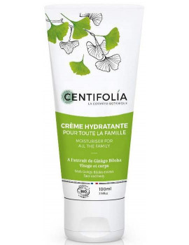 Crème hydratante famille Ginkgo Biloba 100 ml Centifolia - soin bio pour le corps Abcbeauté