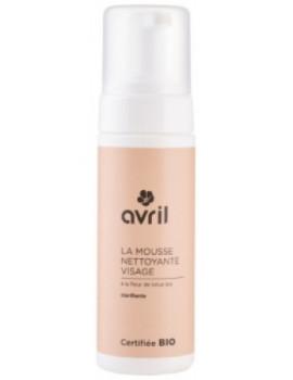 Mousse nettoyante démaquillante visage 150 ml Avril Beauté - produit de nettoyage certifié bio pour le visage