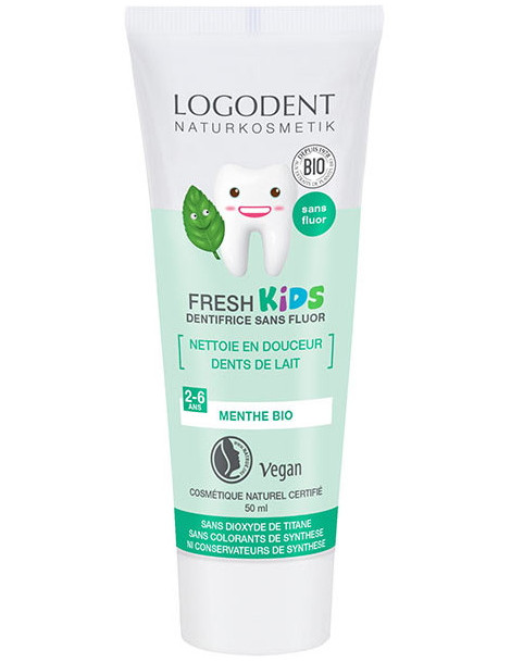 Dentifrice Kids Menthe douce 50 ml Logona - dentifrice bio abcbeauté