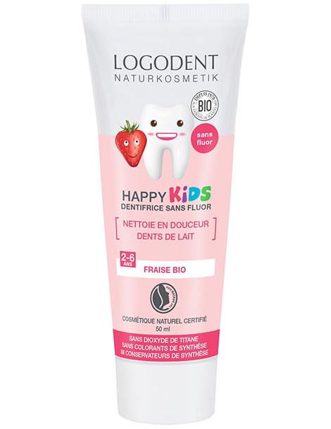 Dentifrice Kids Arôme fraise 50ml Logona - dentifrice bio abcbeauté