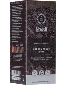 Coloration végétale Marron Foncé 100 gr Khadi - soin des cheveux abcbeauté