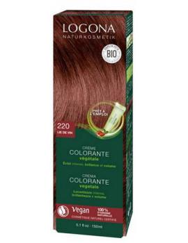 Crème colorante Lie de vin 202 cheveux chatains 150 ml Logona henné naturel Abcbeauté