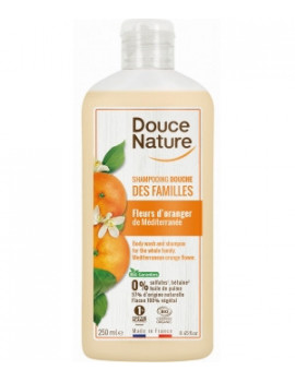 Shampoing Douche des familles Fleurs d'oranger 250ml Douce Nature