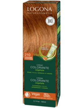 Crème colorante Couleurs d'Automne cheveux chatains 150 ml Logona coloration végétale Abcbeauté