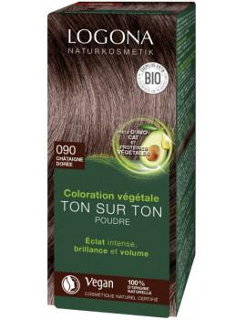 coloration végétale ton sur ton 090 en poudre Chataîgne dorée 100 gr Logona Abcbeauté