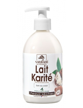 Lait corporel Karité peau sèche 500 ml Naturado lait corps bio Abcbeauté