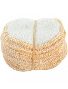 Lot 12 lingettes à démaquiller micro éponge de bambou Lulu Nature lavables Abcbeauté