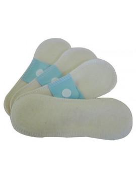 Lot 4 protèges slips mini (16x5cm) coton bio Lulu Nature protection féminine Abcbeauté
