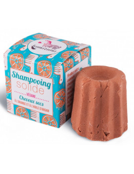 Shampoing solide naturel Cheveux secs Orange 55 gr Lamazuna