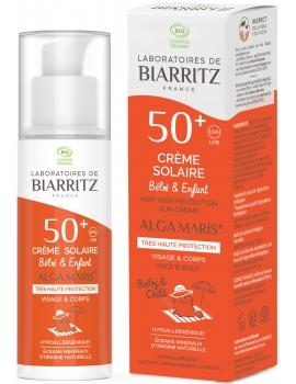 Crème Solaire Bébé Enfant SPF 50 plus Coco Alga Gorria 100 ml Alga Maris certifié Ecocert Abcbeauté