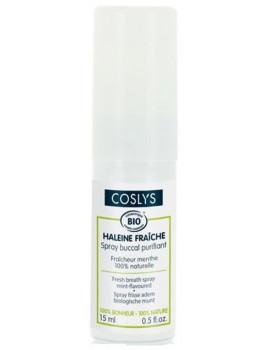 Spray buccal purifiant haleine fraîche à la menthe 15 ml Coslys eau florale de menthe Abcbeauté