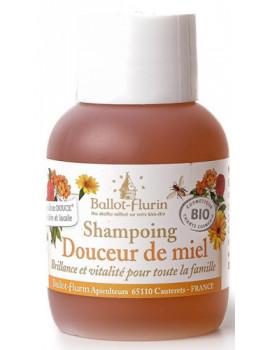 Shampoing douceur de miel 30% de miel Grand cru 50 ml Ballot Flurin shampooing bio Abcbeauté