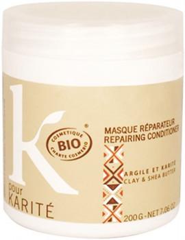 Masque réparateur Argile et Karité 200 gr K Pour Karité masque capillaire bio Abcbeauté