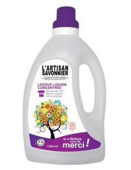 Lessive liquide concentrée 1.5 L L Artisan Savonnier blanc et couleur machine et à la main Abcbeauté
