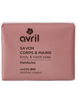Savon de Provence Corps et Mains Framboise 100 gr Avril beauté