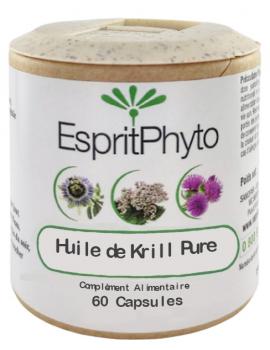 Huile de Krill Pure 60 capsules de 500mg EspritPhyto oméga 3 Abcbeauté