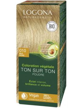 Coloration Végétale Ton sur Ton 010 Blé doré 100gr Logona soin colorant Abcbeauté